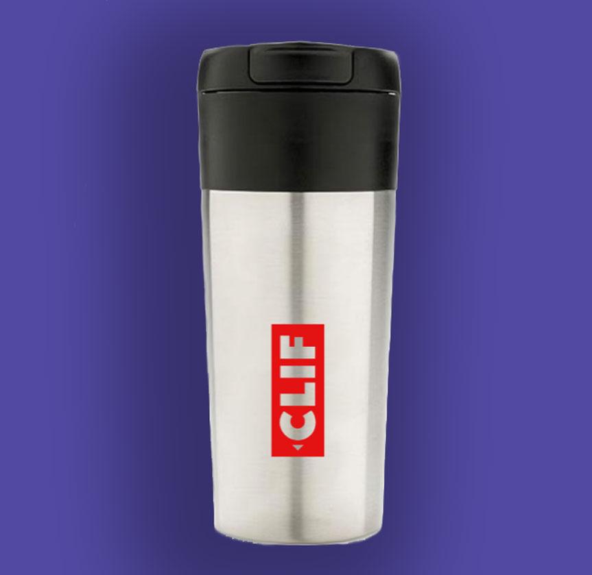 Ein von uns bedruckter Coffe-to-Go Mug